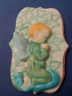 Galleta angelito en fondant