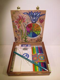 Boho Art Box Art Kit Teen Art Colorful Art Kit by CapricornsArtBox, $65.00