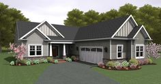 Ranch style houses are traditionally one story with a low for Ranch style house plans without garage