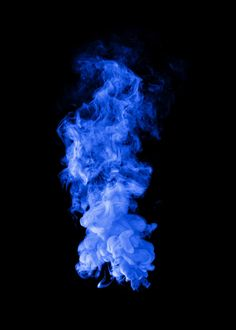 Download premium illustration of Blue smoke effect design element on a
