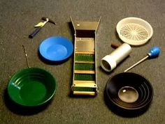 Tools for Gold Prospecting I panned for Diamonds at the Hope Diamond Mine Rocks And Gems, Rocks And Minerals, Gold Mining Equipment, Gem Hunt, Panning For Gold, Gold Prospecting, Gold Tips, Metal Detecting, Gold Rush