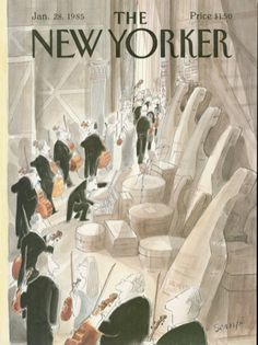Jean-Jacques Sempé. January 28, 1985 The New Yorker cover