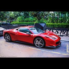 I have been seeing red a lot lately  #Ferrari #f458 #supercar #cars #exotic #hypercars #whips #fast #track #drift #race #italia #italian #vroom #amazingcars247 #carswithoutlimits #carsofinstagram by solace_photos