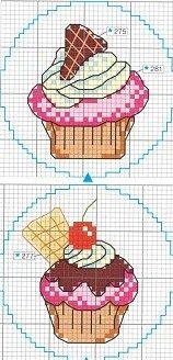 Cupcake cake ponto cruz