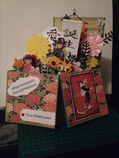 3d flower box- widok lekko z boku, w trakcie składania