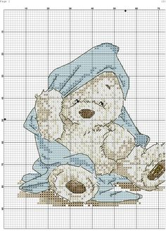 Cross Stitch Owl, Cross Stitch Boards, Cross Stitching, Beginner Cross Stitch Patterns Free, Baby Cross Stitch Patterns, Hand Embroidery Stitches, Cross Stitch Embroidery, Tatty Teddy, Plastic Canvas Patterns