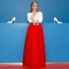 Chicwish maxi TUTU sukně Amore, červená - Glami.cz Waist Skirt, High Waisted Skirt, Tutu, Skirts, Fashion, Amor, Moda, High Waist Skirt, Ballet Skirt