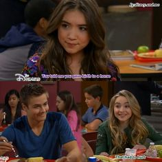 Disney Channel Girl Meets World. Maya Hart and Lucas Friar. Sabrina Carpenter and Peyton Meyer. Well, and Rowan Blanchard as Riley Matthews Disney Channel Shows, Disney Shows, Boy Meets World Cast, Funny Relatable Memes, Hilarious Texts, Peyton Meyer, Crazy Funny Pictures, Disney Theory, Nickelodeon Shows
