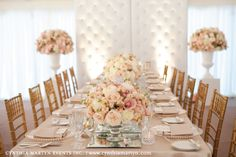 Blush and gold table setting --@Deya Knight, getting ideas for my wedding ;p