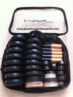 Here's a look inside my freelance kit. It mainly contains MAC cosmetics but there are a few other different cosmetic brands inside (Bobbi B...