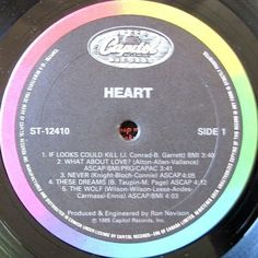 Heart – Heart CANADA 1985 Lp vg++ w/LyricsInner