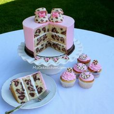 Leopard print baby shower cake... I need this!
