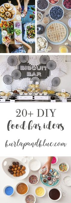 DIY food bars are such a hot trend!! Come see how these easy entertaining ideas--I'm sharing 20+ favorite food bar ideas!