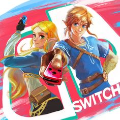 Link and Zelda by @min0min6 #NintendoSwitch #BOTW