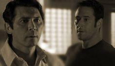 NUMB3RS: Ian Edgerton (Lou Diamond Phillips) and Don Eppes (Rob Morrow).