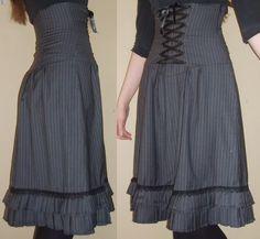 How to make a High-waist corset skirt
