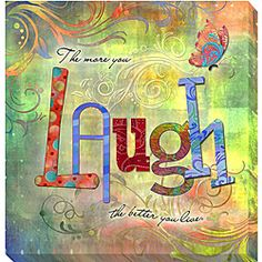 @Overstock.com - Connie Haley 'Laugh' Canvas Giclee Art - Artist: Connie HaleyTitle: LaughProduct type: Gallery-wrapped giclee  http://www.overstock.com/Home-Garden/Connie-Haley-Laugh-Canvas-Giclee-Art/4812980/product.html?CID=214117 $43.19