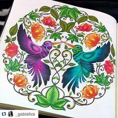 """#Repost @_gabisilva ・・・ """"Fim 😊🌷🌸🌹"""" ..... Livro: Jardim Secreto 📚 .... Quer aparecer aqui também? Mande um direct ou use #florestaencantadainsta  #florestaencantadainsta #florestaencantada #jardimsecreto #secretgarden #esrarengizbahce #enchantedforest #johannabasford #jardimsecretotop#florestaencantadatop"""