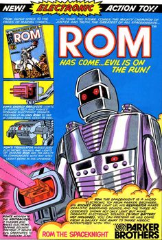 ROM Comic Book Ad