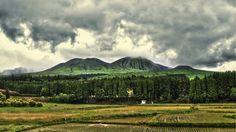 green grass kyushu island mountains wallpaper download free hd