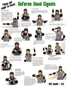 Wftda Hand Signals | Referees | Platte Valley Roller Vixens