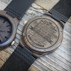 Watch For Men - Great Gifts For Dad Engraving Wooden Watch - Perfect Gifts For Your Dad Great Gifts For Wife, Diy Gifts For Kids, Perfect Gift For Dad, Love Gifts, Gifts For Husband, Gifts For Father, Gifts For Him, Fathers, Unique Gifts