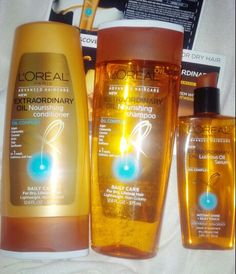 Loreal #ExtraordinaryOil system. Good for adding lightweight hydration to parched hair #spon4Loreal @influenster