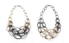 Maya necklace - two-tone, ombre necklaces by Megan Auman