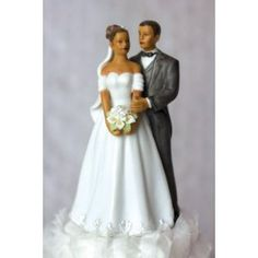 african american traditional elegance wedding cake toppers