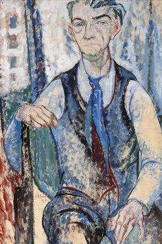 Leo Gestel - Self portrait, 1926, Mixed media on paper, 95 x 63.5 cm