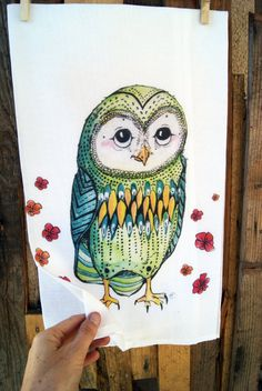 Hey, I found this really awesome Etsy listing at https://www.etsy.com/listing/179413553/sale-owl-tea-towel-owl-dish-towel-owl