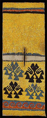 Tabard with cat & bird design 100-1470 AD / Chimu culture Peru