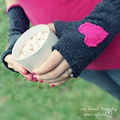 This quick and simple project will show you how to turn a pair of socks into some cute gloves. Inspired by Hannah of WeLivedHappilyEverAfter, this creative idea will make you