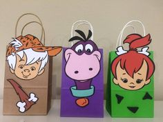 Flintstone treat bags, Pebbles and Bam Bam treat birthday bag, Flintstone Party Favors - - Flintstone treat bags, Pebbles and Bam Bam treat birthday bag, Flintstone Party Favors Pebbles picapiedra 1st Birthday Party For Girls, Birthday Bag, Birthday Favors, Party Favors, Birthday Party Decorations, Party Bags, Pebbles Y Bam Bam, Twins 1st Birthdays, Treat Bags