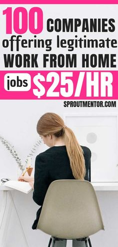 These 100 work from home companies are always hiring for remote jobs, work from home jobs and online jobs you can do from anywhere you want. These legitimate work from home jobs will pay up to $25 per hour or more for you to work from home. #workfromhome #workfromhomejobs #remotejobs #onlinejobsfromhome #onlinejobs Work From Home Careers, Work At Home Jobs, Work From Home Companies, Online Jobs From Home, Work From Home Business, Job Work, Legitimate Work From Home, Work Online Jobs, Work From Home Ideas