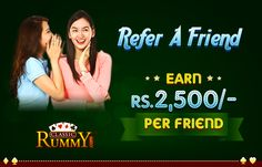Share the Thrill of RUMMY With your Friends. Refer a friend, and earn Rs.2500 @ ClassicRummy​  https://www.classicrummy.com/online-rummy-refer-and-earn?link_name=CR-12  #friend #rummy #referandearn #referafriend