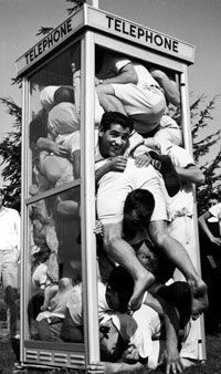 Phone Booth Cramming - a late '50's fad