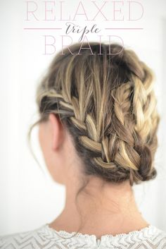 relaxed triple braid #hair
