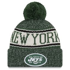684c8764573 Youth New York Jets New Era Green 2018 NFL Sideline Cold Weather Sport Knit  Hat