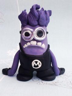 Evil minion (despicable me Despicable Me Crafts, Despicable Me Party, Minions Despicable Me, Minion Party, Purple Minions, Evil Minions, Beautiful Cakes, Amazing Cakes, Minion Doll