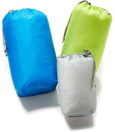 This set of 3 Outdoor Research Ultralight Ditty sacks keeps small items such as sunscreen, socks, headlamps, and compasses from floating around your pack. Available at REI, 100% Satisfaction Guaranteed.