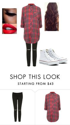 """Untitled #212"" by pufferfishgal on Polyvore featuring Topshop and Converse"