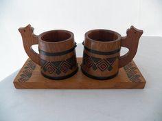 Vintage Handcrafted Russian Beer Stein Set by 1littletreasureshop, $25.00