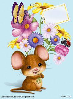 Bouquet, Rats, Pikachu, Teddy Bear, Hamsters, Cartoon, Mice, Illustration, Animals