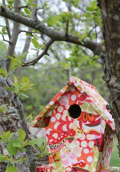 Mod Podged bird house..