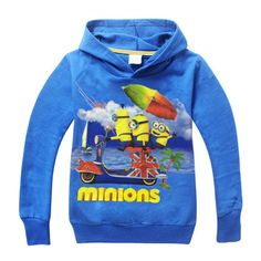 3-9Y 2015 hot sell minions girl boys children 100% cotton long sleeve autumn outerwear hoodies clothing garments Sweatshirts //Price: $US $17.68 & FREE Shipping //