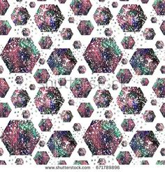 Seamless abstract geometric polygons pattern