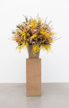Willem de Rooij at Friedrich Petzel Contemporary Art Daily, Tulip Fields, Dutch Artists, Still Life, Tulips, Floral Arrangements, Sculptures, Vase, Flowers