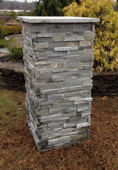 Natural Pre Built Stone Driveway Pillars For the Front Front Gates, Front Yard Fence, Entrance Gates, Fence Gate, House Entrance, Fencing, Front Porch, Grand Entrance, Driveway Posts