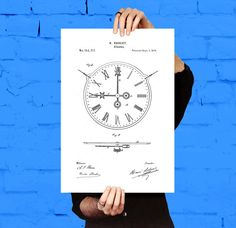 Clock Patent, 19th Century Clock, Clock Poster, Clock Blueprint,  Clock Print, Clock Art, Clock Decor, Home Decor, Clock poster by STANLEYprintHOUSE  3.00 USD  We use only top quality archival inks and heavyweight matte fine art papers and high end printers to produce a stunning quality print that's made to last.  Any of these posters will make a great affordable gift, or tie any room together.  Please choose between different sizes and col ..  https://www.etsy.com/ca/listing/47398..